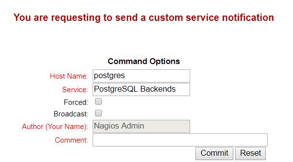 Nagios - Custom Service Notification