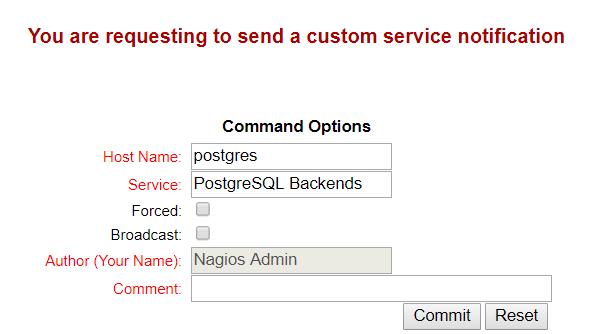 Nagios - Custom Service Notification