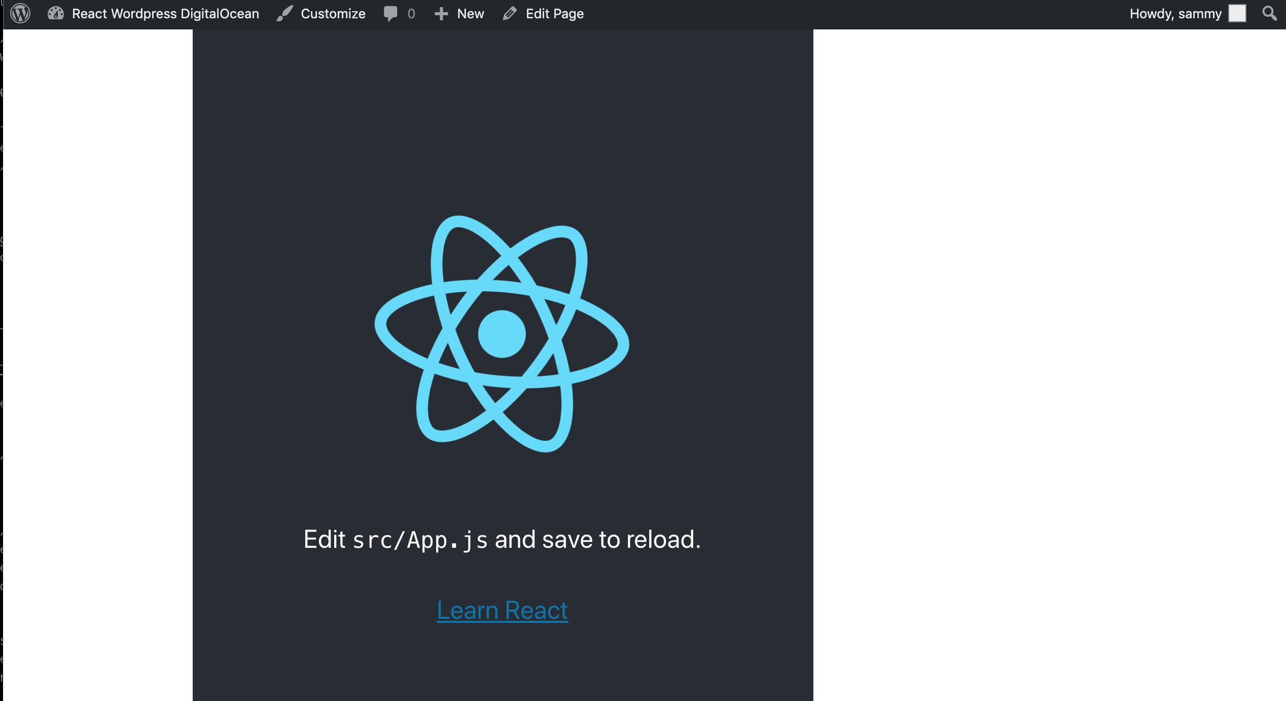 Working React App