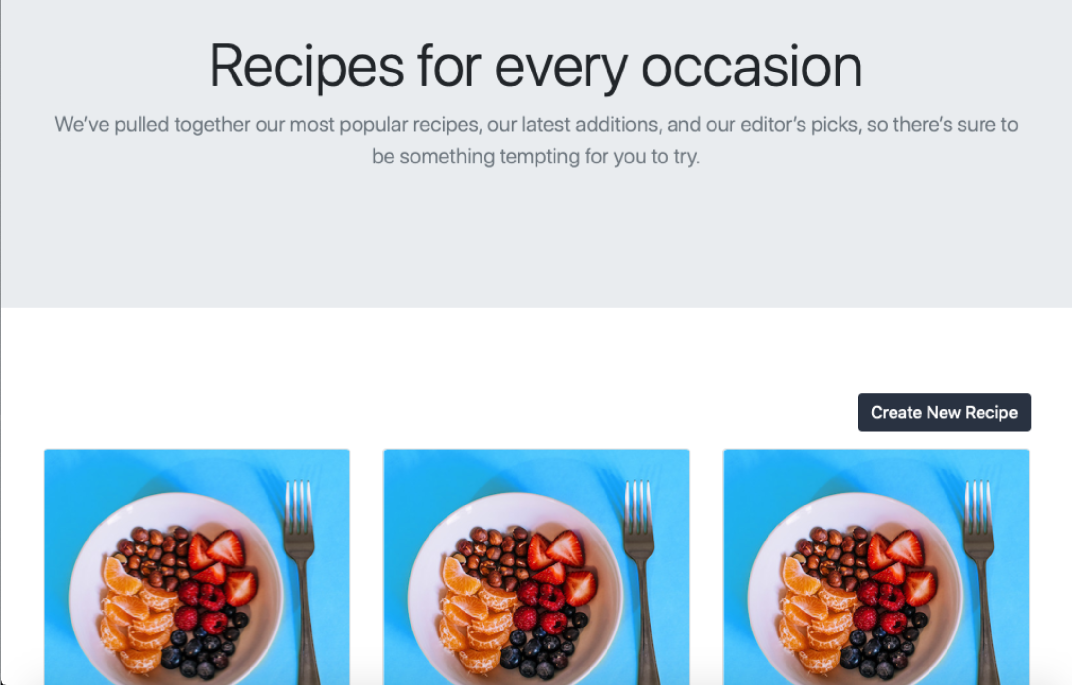 Completed Recipe App
