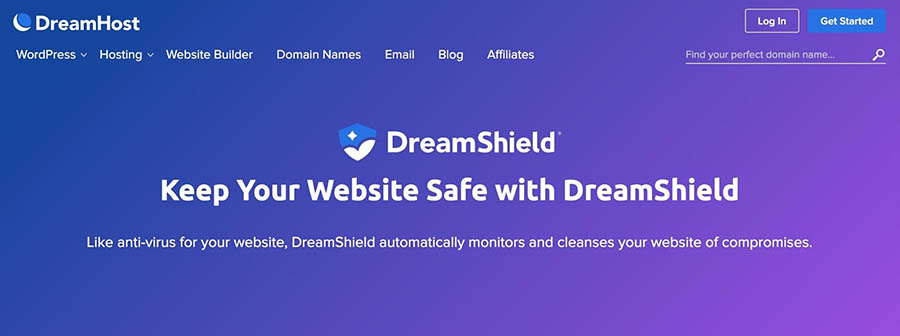 The DreamShield information page.