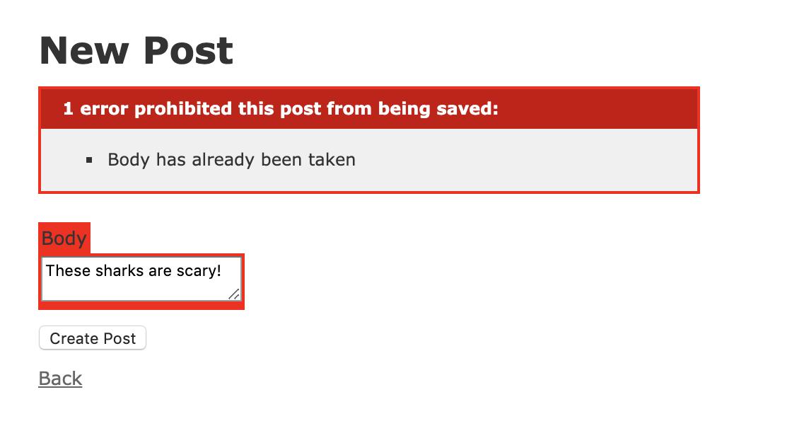 Unique Post Error