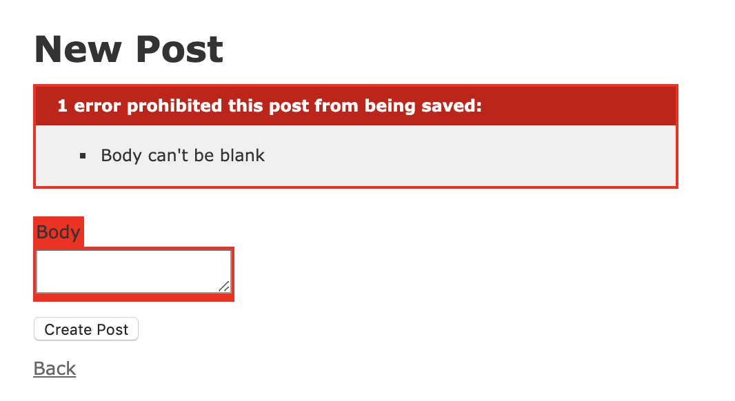Blank Post Error
