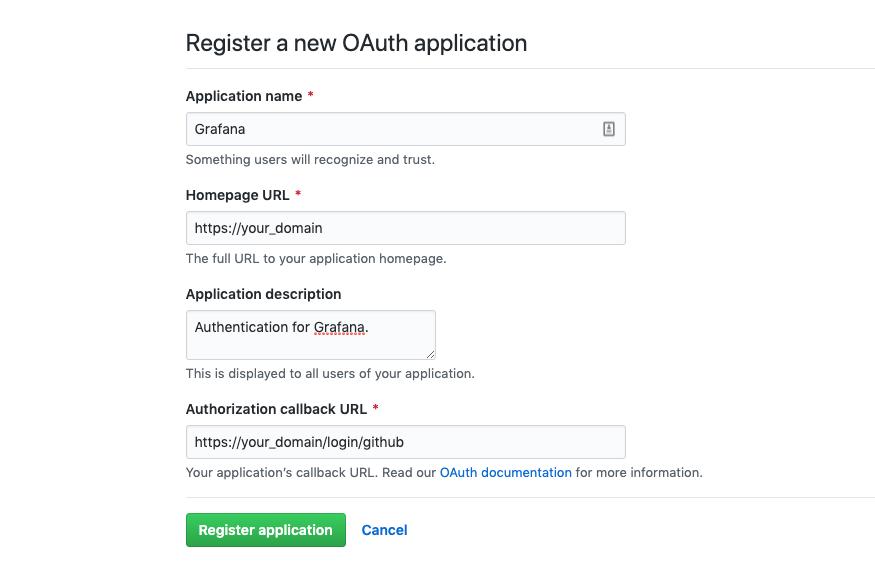 GitHub Register OAuth-Anwendung