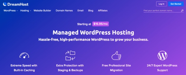 DreamHost's managed WordPress hosting plans.