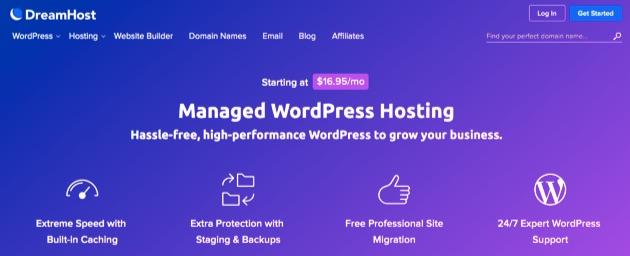 DreamHost's managed WordPress hosting plans.