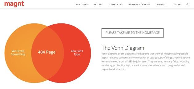 Magnt's 404 Error page.