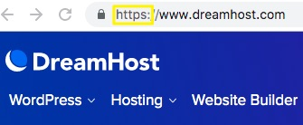 An example of a secure URL.