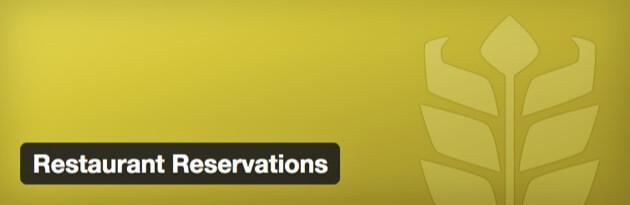 The Restaurant Reservations plugin banner.