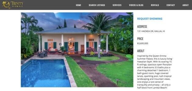 A property listing.