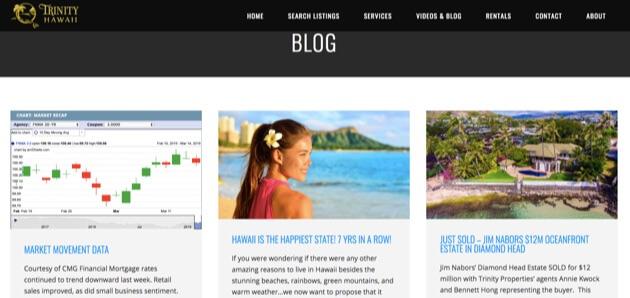 The Trinity Hawaii real estate blog.