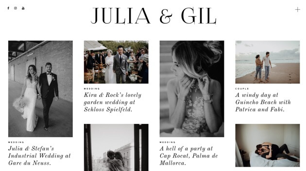 Julia and Gil photography site.
