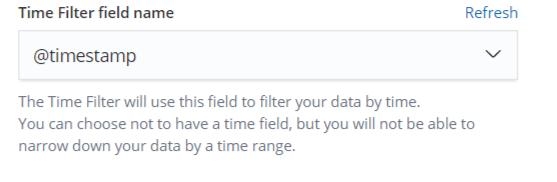 Kibana - Index Pattern Timestamp Selection