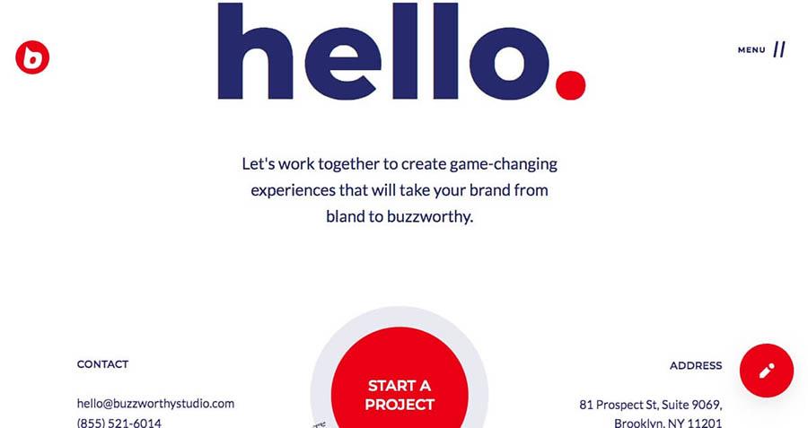 Buzzworthy Studio's contact page.