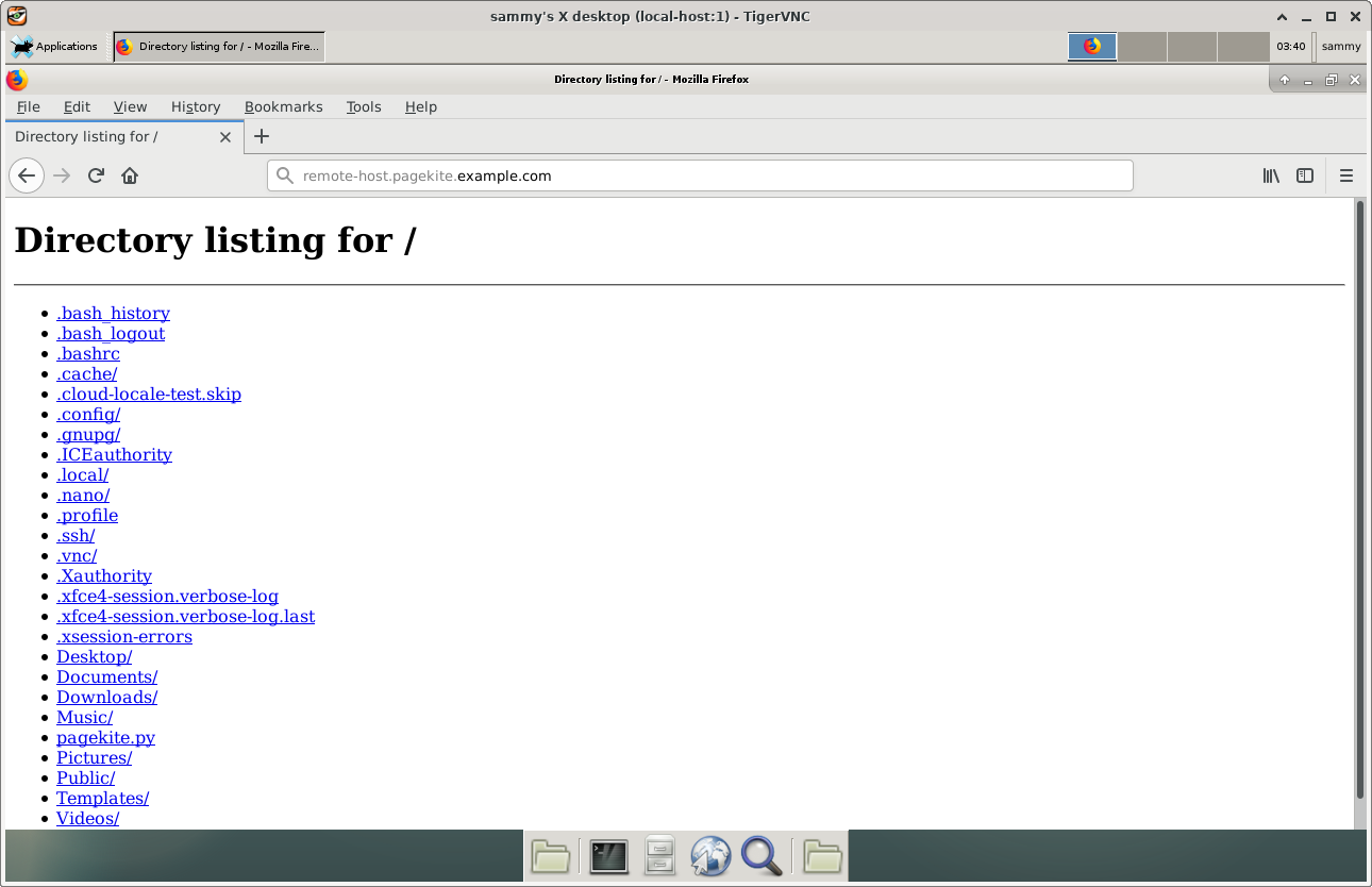 local-host Accessing remote-host Web Page
