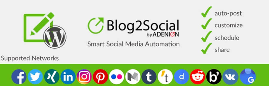 The Blog2Social plugin.