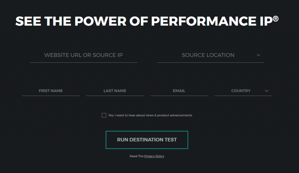 Performance IP Homepage