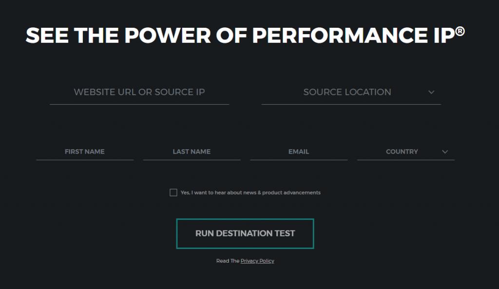 Performance IP Homepage