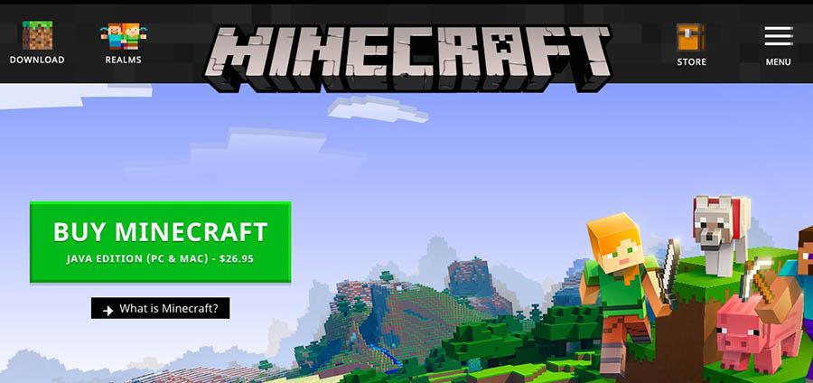 """The Minecraft Java Edition."""