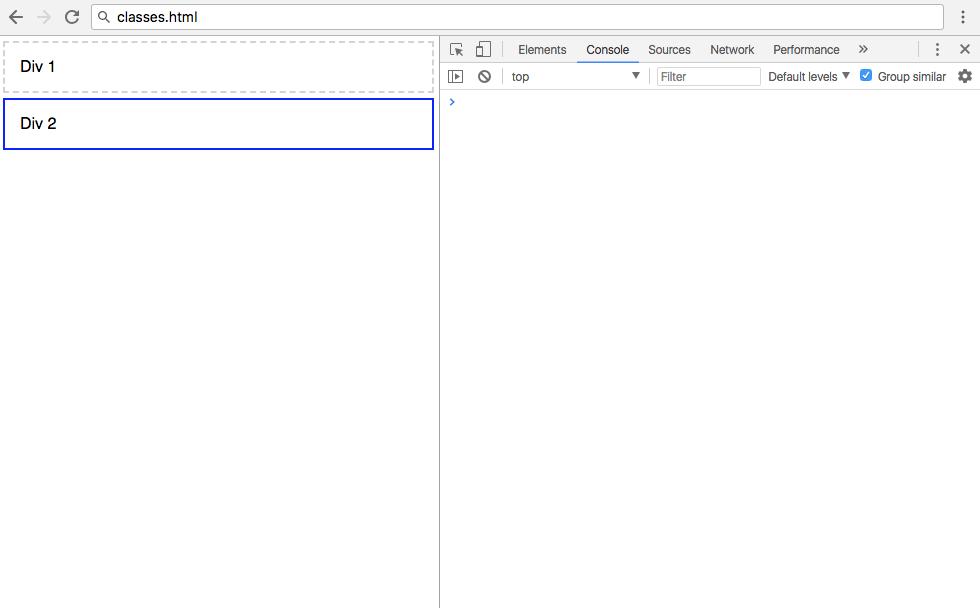 Первый рендеринг classes.html