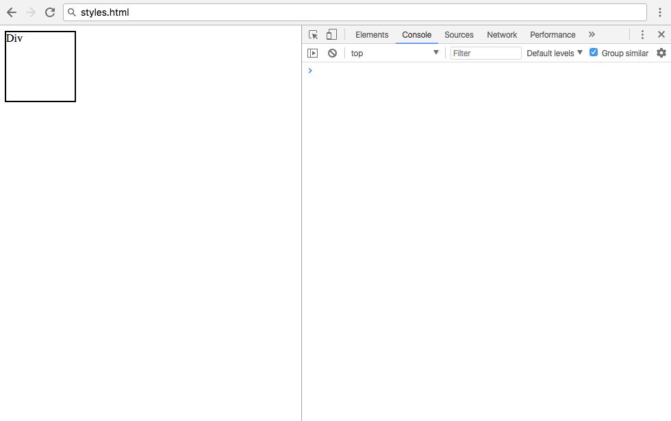 Первый рендеринг styles.html