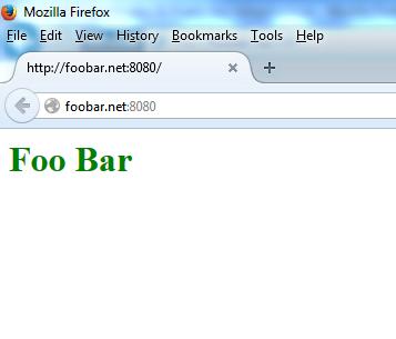 страница индекса foobar.net