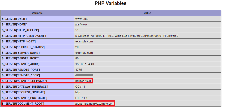 Nginx PHP Variables