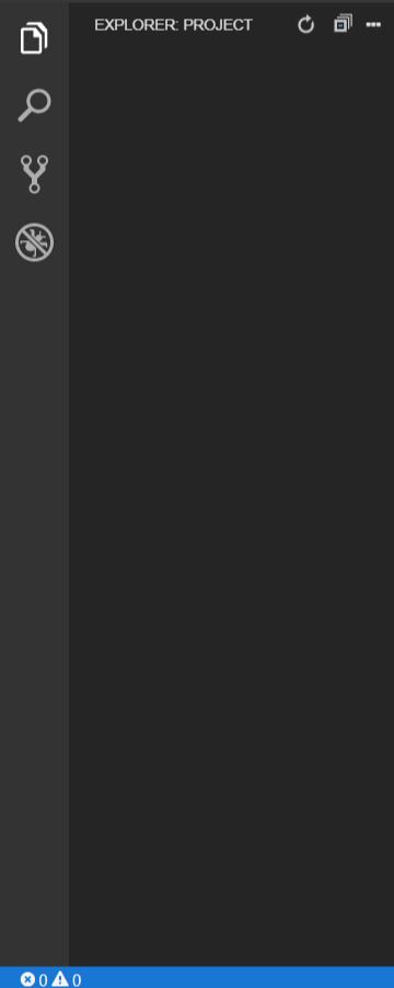 Графический интерфейс Eclipse Theia — боковая панель