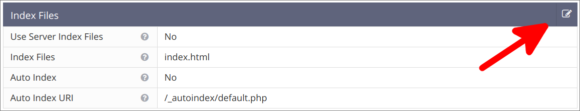 Virtual Hosts Seite Index Files