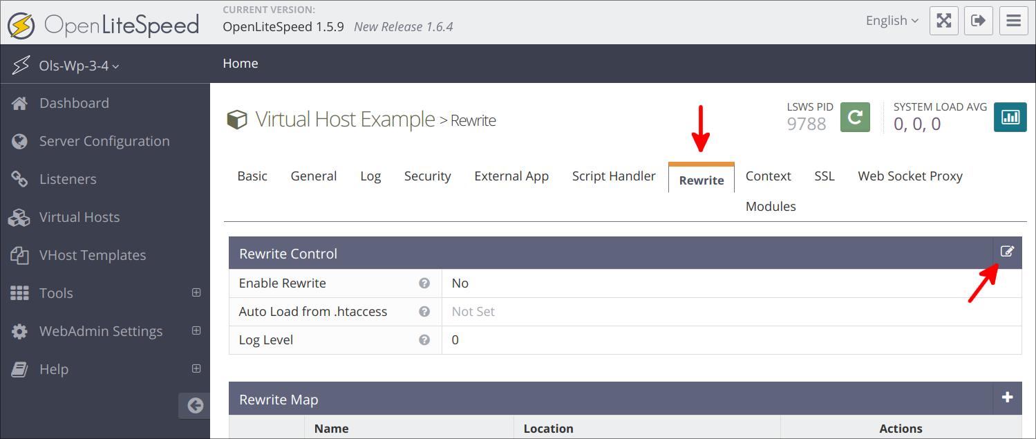 Virtual Hosts Seite Rewrite