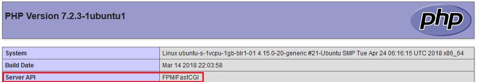 phpinfo Server API