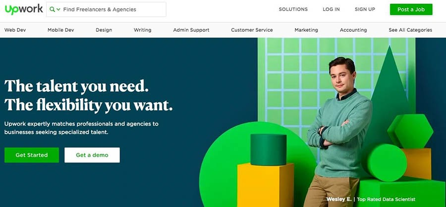 The Upwork website.