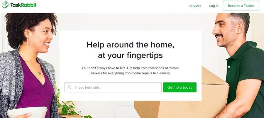 The TaskRabbit freelance website.