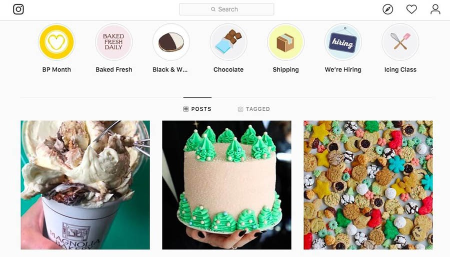 The Magnolia Bakery on Instagram.