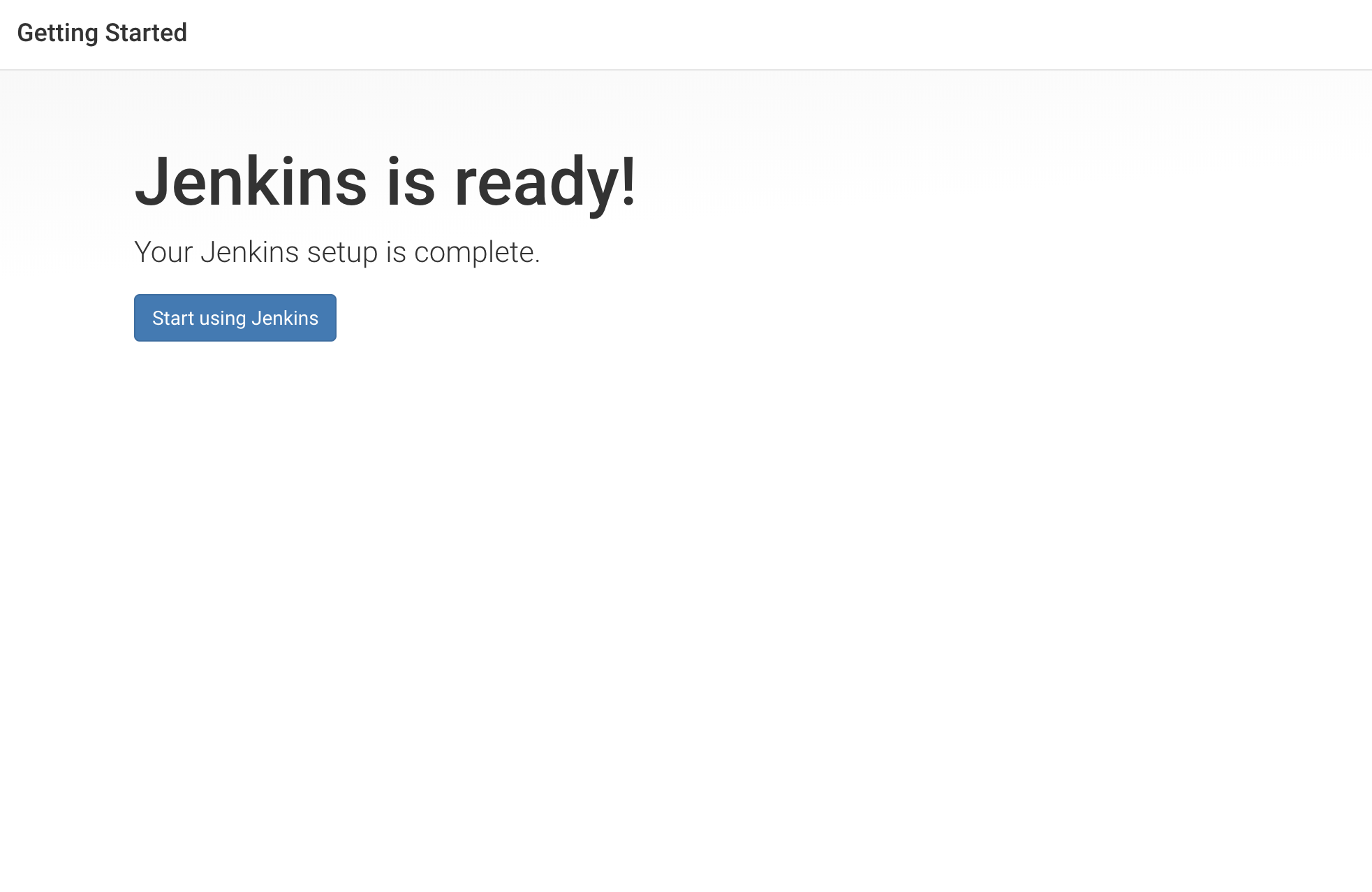 "Pantalla ""Jenkins is ready"""
