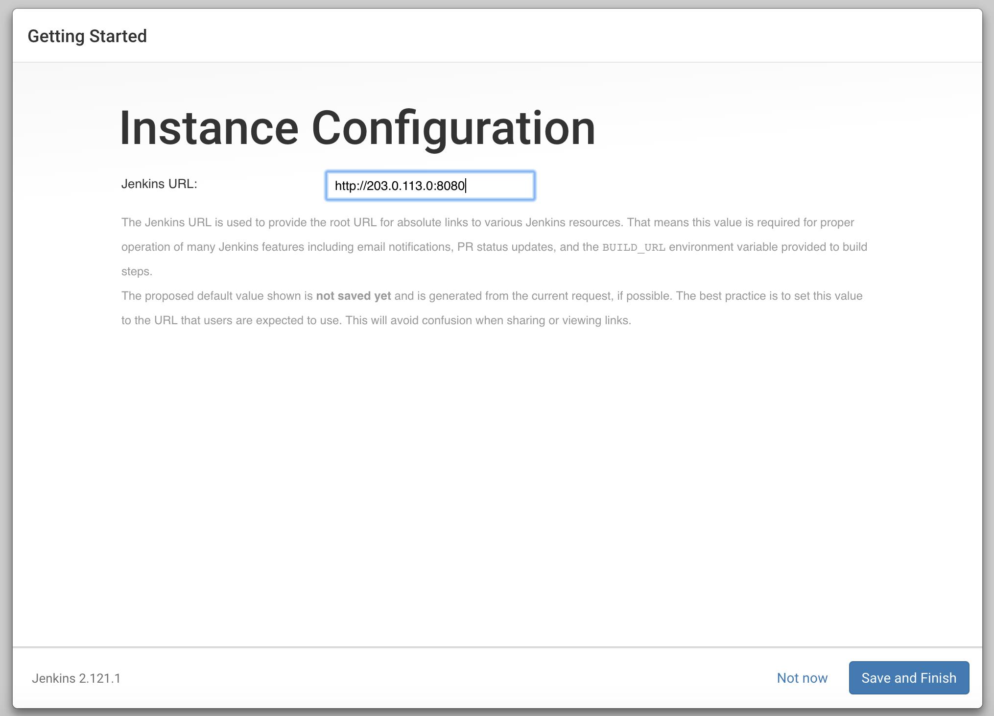 Configuration d'instance dans Jenkins