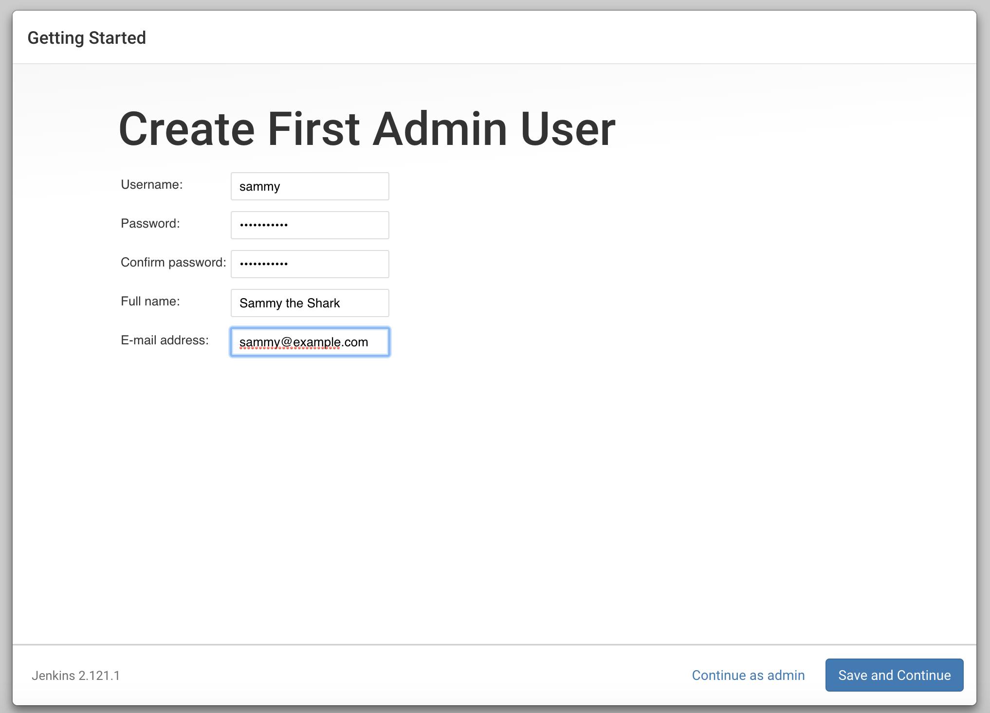 Jenkins Create User (Jenkins: Benutzer erstellen)