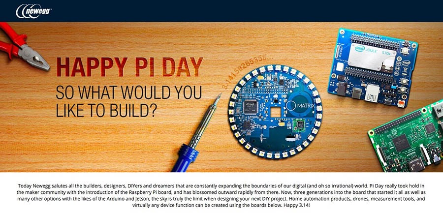 Newegg's Pi Day sale.