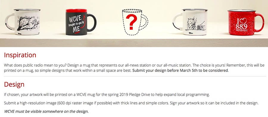 An example of a design contest.
