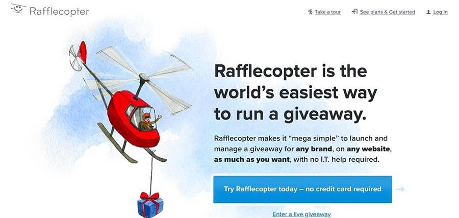 Rafflecopter giveaway website.