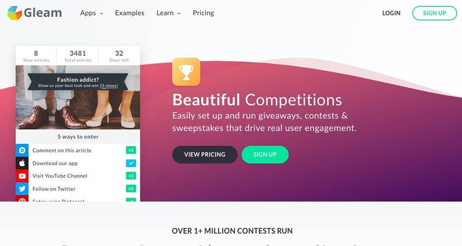 The Gleam website.