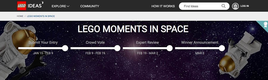 """Lego's """"Moments in Space"""" contest."""