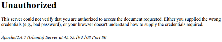 Ошибка отказа доступа Apache2