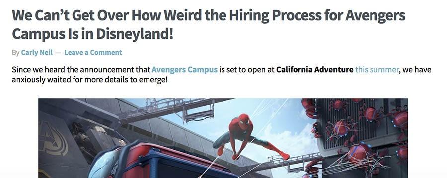 Behind-the-scenes blog post of Disneyland happenings.