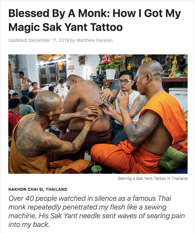 Example of captivating story from Expert Vagabond blog.