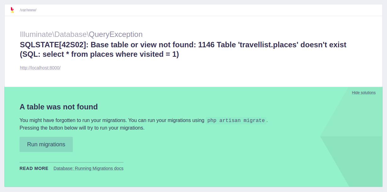 Error de MySQL