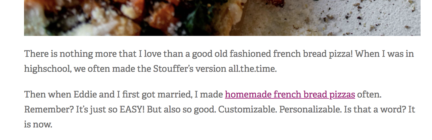 Example of relatable blog copy.