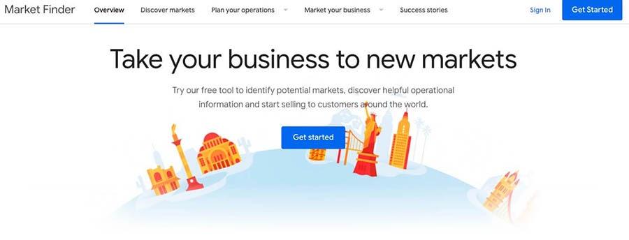 Google's Market Finder application.