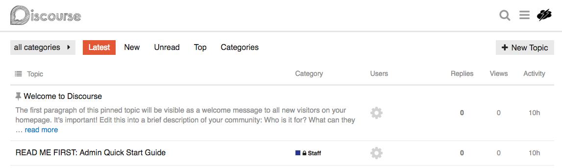 Page d'accueil