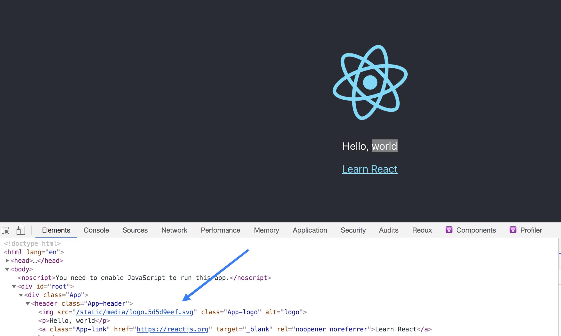 Inspeccionar elementos con herramientas de desarrollo de Chrome